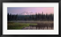 Framed Mist over Mount Rainier National Park, Washington