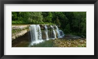 Framed Ludlowville Falls on Salmon Creek, Finger Lakes, New York State