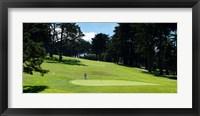 Framed Player at Presidio Golf Course, San Francisco, California