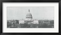 Framed US Capitol, Washington DC, 1916