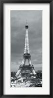 Framed Eiffel Tower and Christmas Market, Paris, France