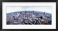 Framed Ariel View of Atlanta, Georgia