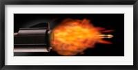Framed Gun Firing a Bullet
