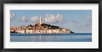 Framed Old Town and St. Euphemia's Basilica, Rovinj, Istria, Croatia