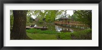 Framed Japanese garden, Wroclaw, Poland