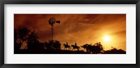 Framed Horse Ride at Sunset, Hunt, Kerr County, Texas