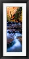 Framed North Creek, Zion National Park, Utah