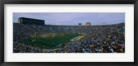 Framed Notre Dame Stadium, South Bend, Indiana