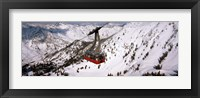 Framed Ride over Snowbird Ski Resort, Utah