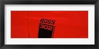 Framed Boss 302 Emblem