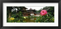 Framed Buddhist Temple, Byodo-in Temple, Koolau Range, Oahu, Hawaii