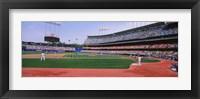 Framed Dodgers vs. Yankees, Dodger Stadium, California