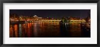 Framed River Seine from Pont des Arts, Paris, Ile-De-France, France