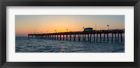 Framed Venice Pier on the Gulf of Mexico, Venice, Florida