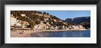 Framed Playa d'es Traves Beach, Port de Soller, Majorca, Balearic Islands, Spain