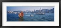 Framed Waterfront Buildings, Kowloon, Hong Kong, China