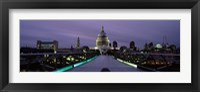 Framed St. Paul's Cathedral, London Millennium Footbridge, England