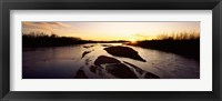 Framed Platte River at Sunset, Nebraska