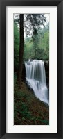 Framed Dry Falls, Nantahala National Forest, Macon County, North Carolina