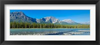 Framed Athabasca River, Icefields Parkway, Jasper National Park, Alberta, Canada