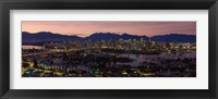 Framed Vancouver at Dusk, British Columbia, Canada