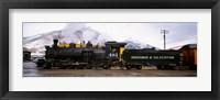 Framed Steam Train, Durango and Silverton Narrow Gauge Railroad, Colorado