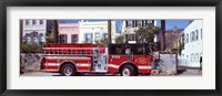 Framed Fire Truck, Charleston, South Carolina