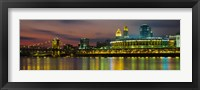 Framed Cincinnati Buildings at Night, Ohio