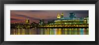 Framed Cincinnati Buildings at Night, Ohio