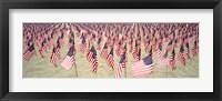 Framed 9/11 Tribute Flags, Pepperdine University, Malibu, California