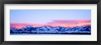Framed Bridger Mountains Sunset, Montana