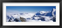 Framed Swiss Alps, Switzerland (close-up)