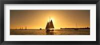 Framed Sailboat in Key West, Florida