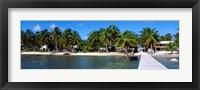 Framed Oceanfront Pier, Caye Caulker, Belize