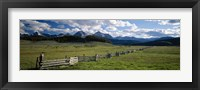 Framed Sawtooth Mountains, Idaho