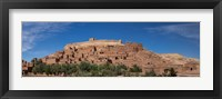 Framed Ksar Ait Benhaddou along the Ounila River, Souss-Massa-Draa, Morocco