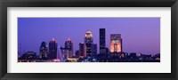 Framed Night Skyline Louisville KY