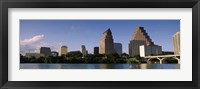 Framed Waterfront Buildings in Austin, Texas