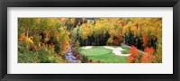 Framed New England Golf Course