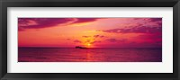 Framed Sunset over Cat Island, Bahamas