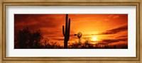 Framed Sonoran Desert Sunset, Arizona