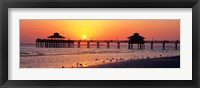 Framed Sunset at Fort Myers Beach, FL