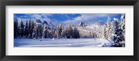 Framed Three Sisters Bow Valley Kananaskis Country Alberta Canada