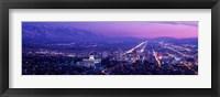 Framed Salt Lake City at Night, Utah