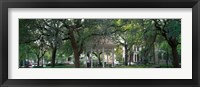 Framed Whitefield Square Historic District, Savannah, GA
