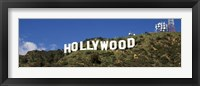 Framed Hollywood Hills Sign, Los Angeles, California