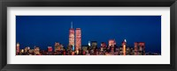 Framed New York City Skyline with World Trade Center