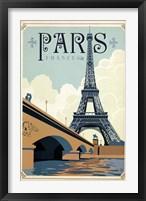 Framed Paris Blue