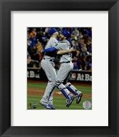 Framed Wade Davis & Drew Butera celebrate winning Game 5 of the 2015 World Series