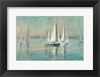 Framed Sailboats at Sunrise